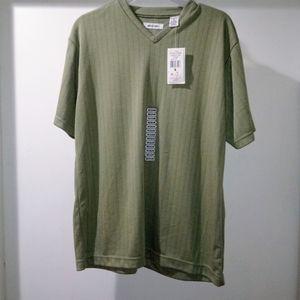Vintage Pierre Cardin Ribbed Olive Tshirt Sz M